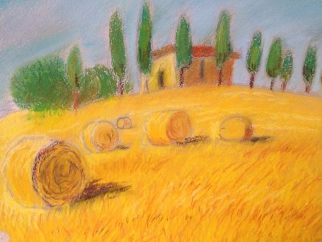 Field (crayon) by Delsin-O-M-G-Rowe