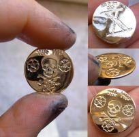 Pirate gold coin by fairyfrog