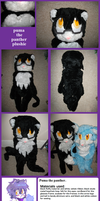 Puma the panther_plushie by f-sonic