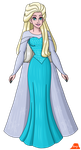 Elsa With Her Hair Down by PerryWhite