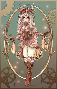 Steampunk Briar Rose by NoFlutter
