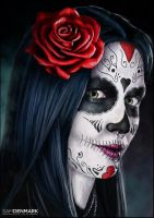 Day of the Dead by SamDenmarkArt