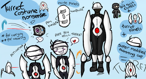 Portal - Turret Costume by Electrical-Socket