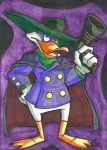 Darkwing Duck Sketch Card by IsaiahBroussard