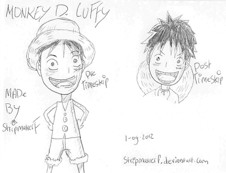 Monkey D. Luffy One piece (cute?) by stripmakerF