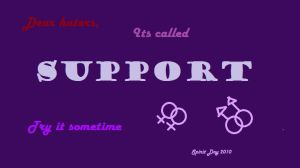 Support, it's not that hard by BleedingMicrophone