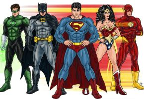 The Justice League of America by Kaufee