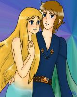 Little Mermaid and her Prince by kagomelovesinu
