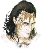 the mad king of Asgard color by Epselion