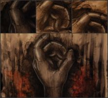 Middle Triptych Panel by fearsmeltaway