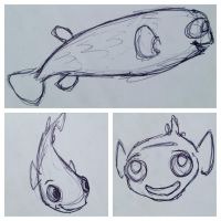 Puffer Sketches by DianaArtimis