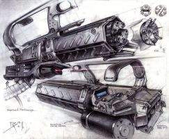 RE2 Gattling Gun by Bartoleum