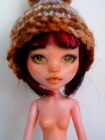 OOAK custom faceup of Draculaura Monster High Doll by titchi