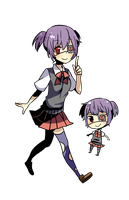Mysterious Character - Eyepatch Schoolgirl by Sephzero