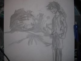 Luffy angy and sad by Nami-v