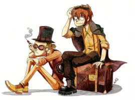 s. and r. steam punk style by Masha-Ko