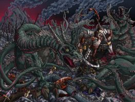 Andrew vs. the Hydra by mighty5cent