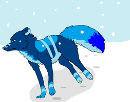 Blue Snow by Hyperactive-Blue