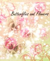 Butterflies and Flowers Brushe by Coby17