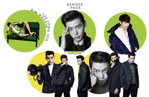 Kim Woobin and Lee Jong Suk render pack by amy91luvKey