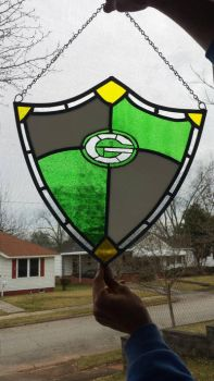 Packers stained glass shield by cellocalypse