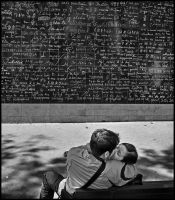 The wall of  Je t'aime by SUDOR