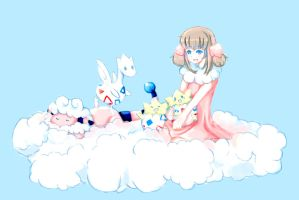 On the Clouds - Pokemon by Ushione