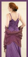 Purple Dress 3 by Lisajen-stock