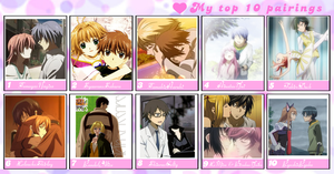 My Top 10 Favorite Anime Couples by Greenwaves31