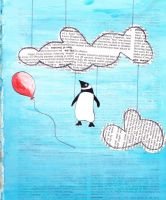 Penguin in Clouds by pixieshoes