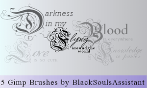Gimp Brushes my-life by BlackSoulsAssistant