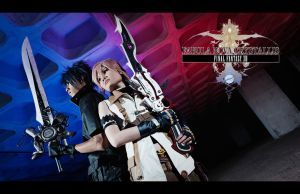 Noctis x Lightning: Vision by Laitz