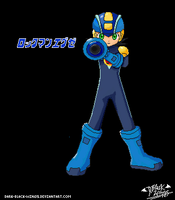 Rockman.exe- rockbuster by dark-black-wings