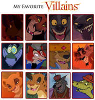 My Favorite Villains Meme by BrainyxBat