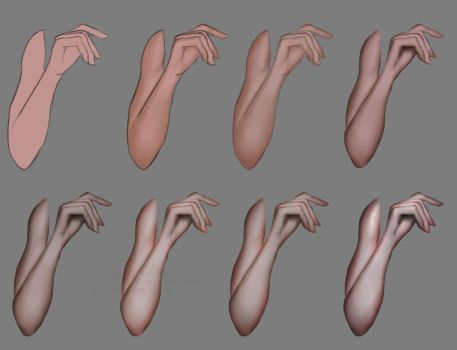 Arm shading tutorial by GlitterBrushArt