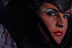 Maleficent Detail 1 by amethystmstock