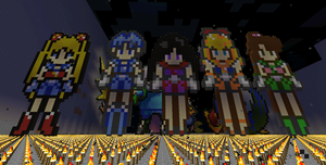 The Sailor Scouts Minecraft by BakaHentai90