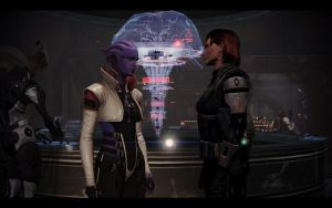 ME3 Shepard and Aria 15 by chicksaw2002