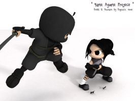 Ayame vs. Ninja by mogcaiz