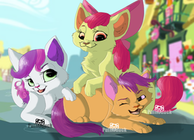Cutie Mark Crusader Kittens by Puffleduck