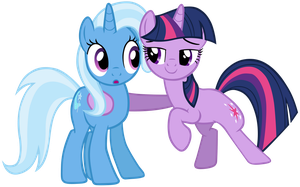 Trixie and Twilight Sparkle by SilverMapWolf