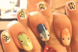 Pokemon nails by SoraAkihiru