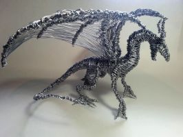 Wire Dragon #5 by Mike-Perrotta