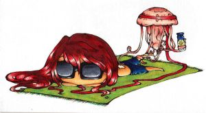 Tanning with Jelly by why-yena