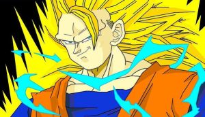 SSJ3 Goku rendered in MS Paint by ERIC-ARTS-inc