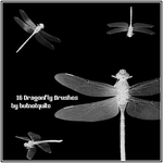 16 Dragonfly brushes by butnotquite