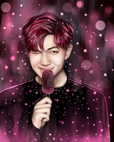 BTS Rap Monster (You Never Walk Alone) Fanart by KekeLiv