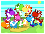 Yoshis by Denia-DN
