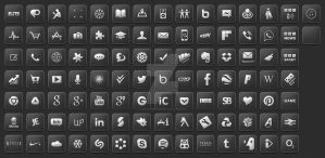 iPix HD Black Smooth Icons by iPixThemesHD