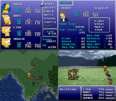 Simpsons in Final Fantasy VI by Gazmanafc